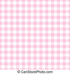 Seamless Light Pink Gingham Plaid - Pale pink gingham check...