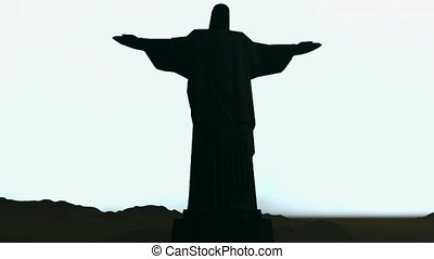 Famous statue of the Christ