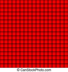 Red & Black Crosshatch Check - Seamless red and black plaid