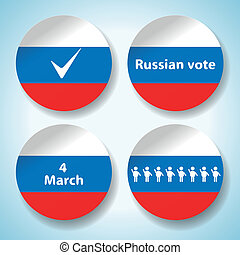 Set of russian presidential election stickers Vector...