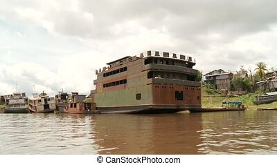 Shipyard, Amazon River, Peru