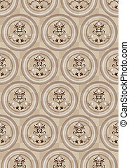 Circles on a beige background of th