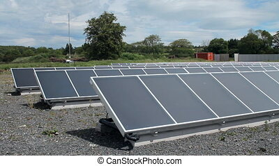 Solar panels producing green energy