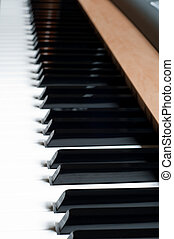 Piano (pianoforte) - Shot of piano, black and white keys