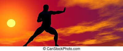 man self defence and sun