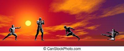 hombres, sí mismo, defensa