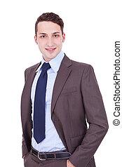 Confident modern business man
