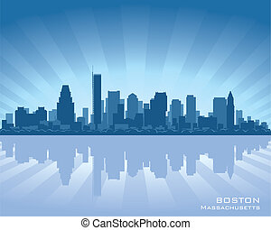Boston skyline - Boston, Massachusetts skyline illustration...