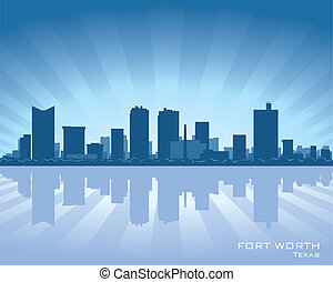 Fort Worth skyline - Fort Worth, Texas skyline illustration...