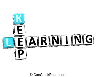 3D Keep Learning text Crossword