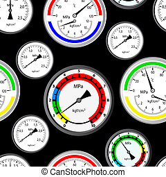 Seamless wallpaper the gas manometer vector background