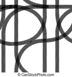 Seamless wallpaper winter tire tracks pattern illustration...