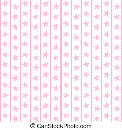 Pale Pink Stars & Stripes - Pale pink stars and thin stripes...