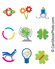 Creativity_ecology_icons - Icons of creativity, design and...