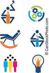 Creativity_design_icons - Icons of creativity and design,...
