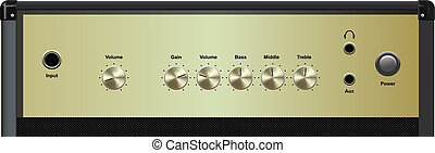 amplifier - vector realistic amplifier interface on white...