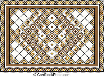 Variegate geometric pattern for rug - Geometric pattern for...