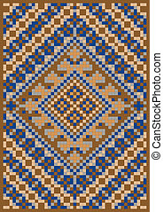 Pattern for rug. Illustration. - Variegate geometric pattern...