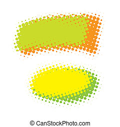 Abstract Design Elements Isolated Over White
