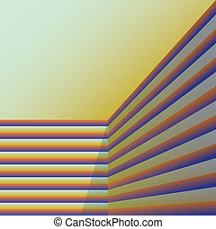 abstract stripes in a corner