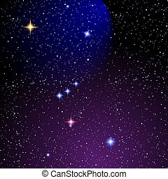 Orion nebula - Space background with Orion nebula.Vector eps...