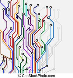 Abstract subway mapVector eps10