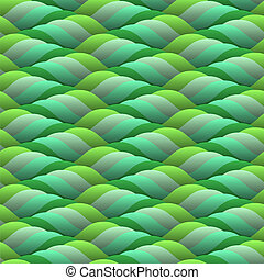 curled green waves
