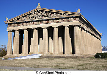Parthenon in Nashville, Tennessee Full size replica