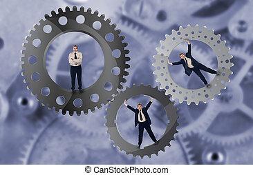 Teamwork and team effort concept