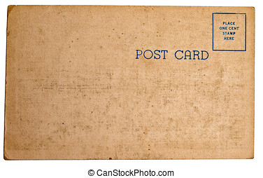 Vintage postcard texture - The backside of a vintage postage...