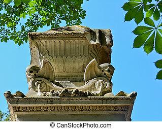 macabro, monumento, cementerio