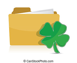 Yellow folder icon with clover