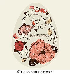 Easter  - Abstract floral ester egg