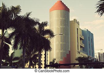 Colorful art deco architecture