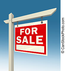 for sale red sign