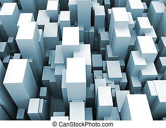 Abstract city scape 3d cubes