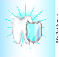 Teeth protection with shield