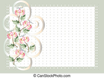 Background grid  with flowers