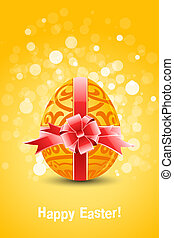 Golden Egg with ornament decoration