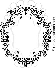 Frame of decorative ornament