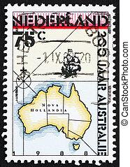 Franqueo, Australia, estampilla, 1988, países bajos,...