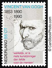 Postage stamp Netherlands 1990 Self-portrait, Vincent van...