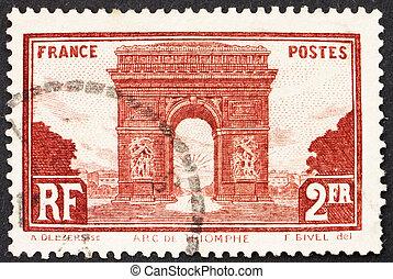 Postage stamp France 1931 Arc de Triomphe, Paris