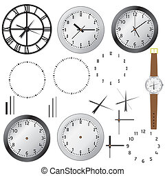 Set of clocks. - Set of clock and elements of clocks on the...