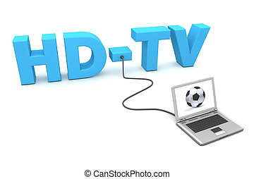 Laptop Wired to HD-TV