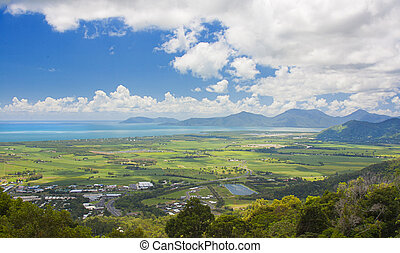 view of Cairns ,Australia - view of Cairns from the Kuranda...