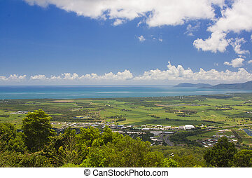 view of Cairns Australia - view of Cairns from the Kuranda...