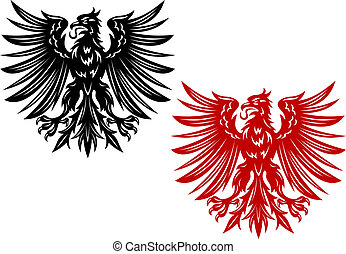 Red and black heraldry eagles