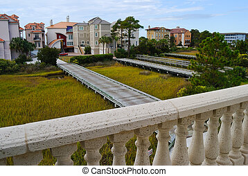 Coastal Salt Marsh - View of a coastal salt marsh in Hilton...