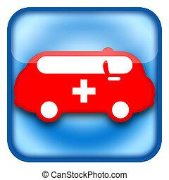 Ambulance car icon isolated on white background